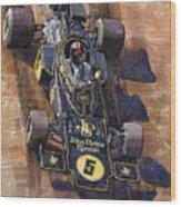 Lotus 72 Canadian Gp 1972 Emerson Fittipaldi  Wood Print by Yuriy  Shevchuk