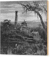 Louisiana: Steamboat Wreck Wood Print by Granger