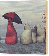 Lousy Weather Wood Print by Jutta Maria Pusl