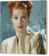 Lucille Ball Wood Print by Everett Collection