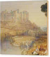 Ludlow Castle  Wood Print by Joseph Mallord William Turner