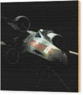 Luke's Original X-wing Wood Print by Micah May
