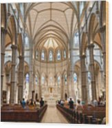 Lunchtime Mass At Saint Paul Cathedral Pittsburgh Pa Wood Print by Amy Cicconi