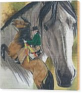 Lusitano Wood Print by Barbara Keith
