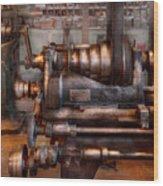 Machinist - Steampunk - 5 Speed Semi Automatic Wood Print by Mike Savad