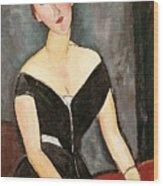 Madame G Van Muyden Wood Print by Amedeo Modigliani