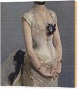 Madame Paul Poirson Wood Print by John Singer Sargent