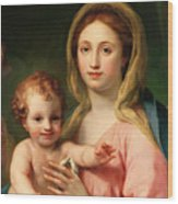 Madonna And Child Wood Print by Anton Raphael Mengs