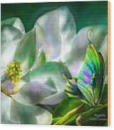 Magnolia Wood Print by Carol Cavalaris