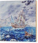 Maiden Voyage Wood Print by Richard Barham