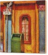 Mailman - No Parking Wood Print by Mike Savad