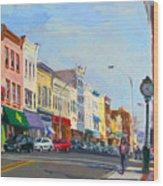 Main Street Nayck  Ny  Wood Print by Ylli Haruni