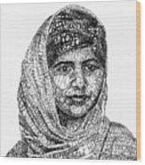 Malala Yousafzai Wood Print by Michael  Volpicelli