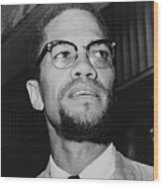 Malcolm X 1925-1965 In 1964, The Year Wood Print by Everett
