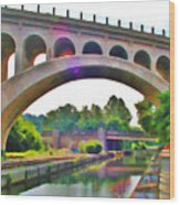 Manayunk Canal Wood Print by Bill Cannon