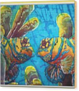 Mandarinfish- Bordered Wood Print by Sue Duda
