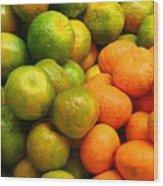 Mandarins And Tangerines Wood Print by Yali Shi
