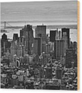 Manhattan Cityscape Wood Print by Andreas Freund