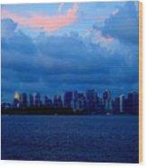Manhattan Skyline Wood Print by Fareeha Khawaja