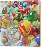Many Marbles  Wood Print by Garry Gay