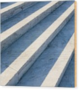 Marble Steps, Jefferson Memorial, Washington Dc, Usa, North America Wood Print by Paul Edmondson