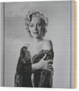 Marilyn In Lace Wood Print by Terry Stephens