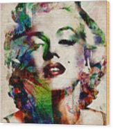 Marilyn Wood Print by Michael Tompsett