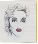 Marilyn Monroe Wood Print by Devaron Jeffery