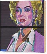 Marilyn Monroe Dyptich Wood Print by David Lloyd Glover