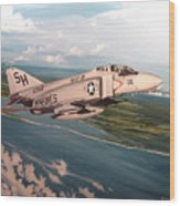 Marine Phantom Wood Print by Marc Stewart