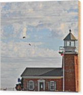 Mark Abbott Memorial Lighthouse  - Home Of The Santa Cruz Surfing Museum Ca Usa Wood Print by Christine Till