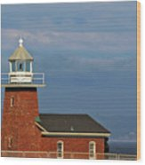 Mark Abbott Memorial Lighthouse California - The World's Oldest Surfing Museum Wood Print by Christine Till