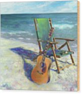 Martin Goes To The Beach Wood Print by Andrew King
