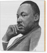 Martin Luther King Jr Wood Print by Charles Vogan