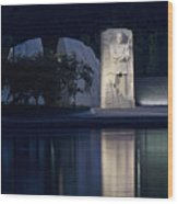 Martin Luther King Jr Memorial Overlooking The Tidal Basin - Washington Dc Wood Print by Brendan Reals