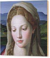 Mary Wood Print by Agnolo Bronzino