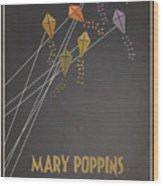 Mary Poppins Wood Print by Megan Romo