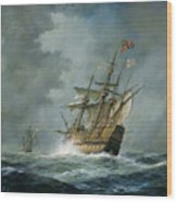 Mary Rose  Wood Print by Richard Willis