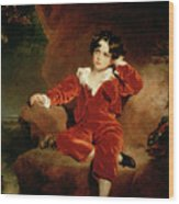 Master Charles William Lambton Wood Print by Sir Thomas Lawrence