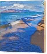 Maui Palms Wood Print by James Roemmling