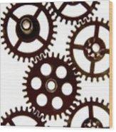 Mechanism Wood Print by Bernard Jaubert