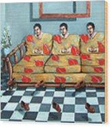 Meditation Wood Print by Valerie Vescovi