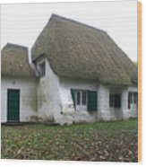Meeting House Wood Print by Brian Leverton