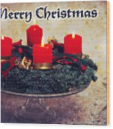 Merry Christmas Wood Print by Angela Doelling AD DESIGN Photo and PhotoArt