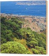 Messina Strait - Italy Wood Print by Silvia Ganora
