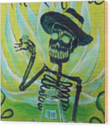 Mi Tequila Wood Print by Heather Calderon