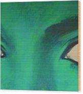 Michael Jackson - Eyes Wood Print by Eric Dee
