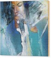 Michael Jackson 04 Wood Print by Miki De Goodaboom