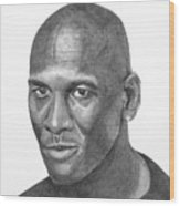 Michael Jordan Wood Print by Randy Reed