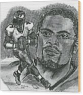 Michael Vick Wood Print by Chris  DelVecchio
